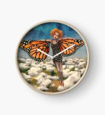 Your Time To Soar (Butterfly Girl) Clock