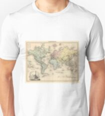 Vintage Map of The World (1892) Unisex T-Shirt