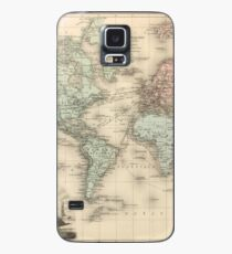 Vintage Map of The World (1892) Case/Skin for Samsung Galaxy
