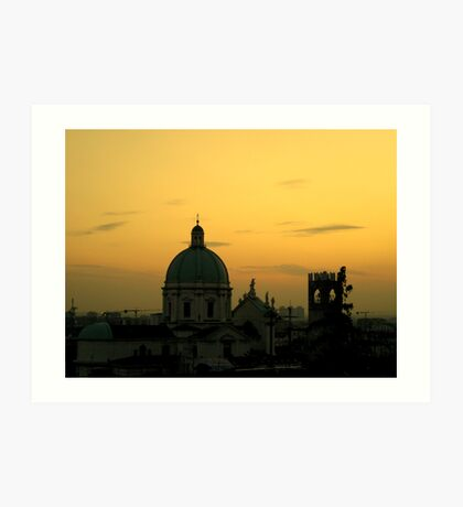 Dome in the sunset Art Print