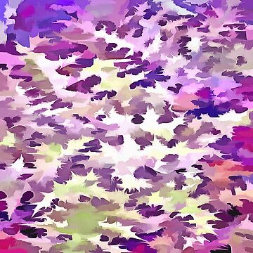 Foliage Abstract Pop Art In UltraViolet Purple and Lilac by taiche