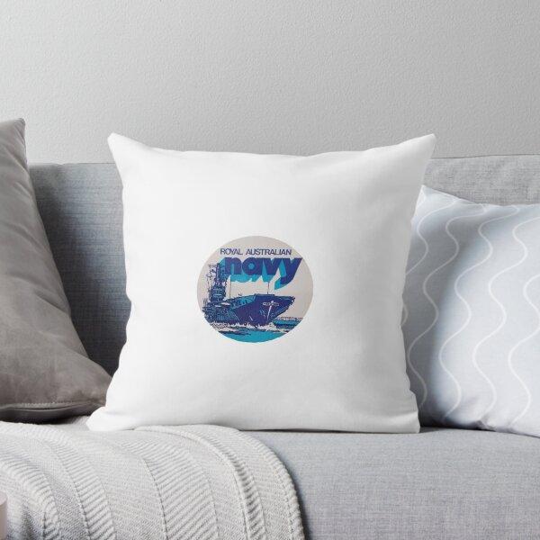 Melbourne Navy Sticker Throw Pillow
