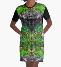 From Winter To Spring Graphic T-Shirt Dress