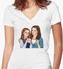 Rory and Lorelai T-shirt col V femme