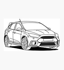 Sporty Hatchback Photographic Print