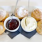 Scones with Jam and Cream by Sharon Brown