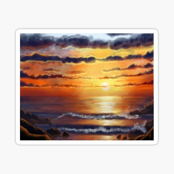 Sunset in SXM St Martin/St Maarten  Sticker