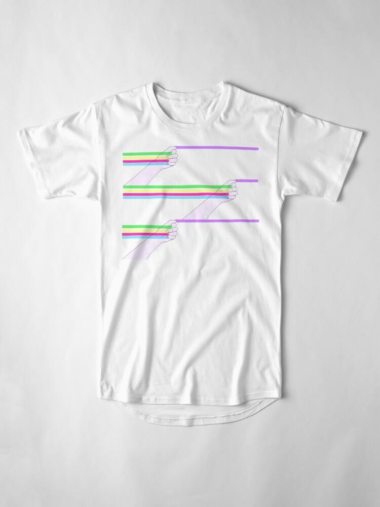 Vista alternativa de Camiseta larga Patrón de poder feminista