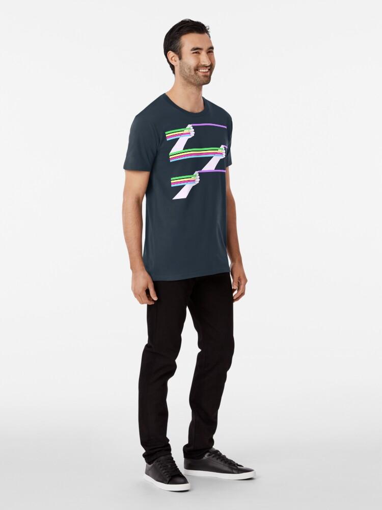 Vista alternativa de Camiseta premium Patrón de poder feminista