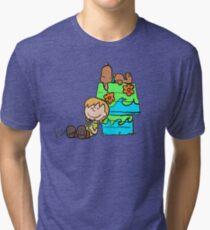 SNOOPY-DOO - SHAGGY BROWN Tri-blend T-Shirt
