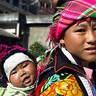 Hilltribe mother  - Sapa, north Vietnam by Bev Pascoe