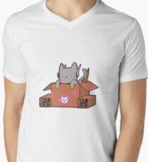 D.Cat Men's V-Neck T-Shirt