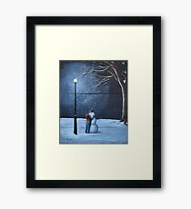 The Happiest Snowman Framed Print