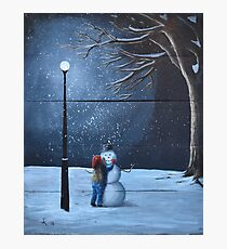 The Happiest Snowman Photographic Print