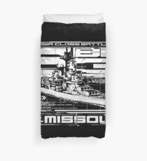 Battleship Missouri Duvet Cover