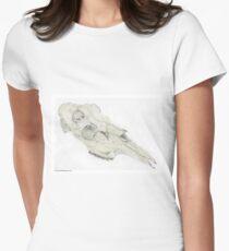 Moose Skull Women's Fitted T-Shirt