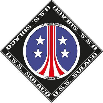 U.S.S. Sulaco Colonial Marines crew logo by Exilant