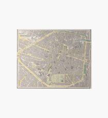 Vintage Map of Brussels Belgium (1901) Art Board
