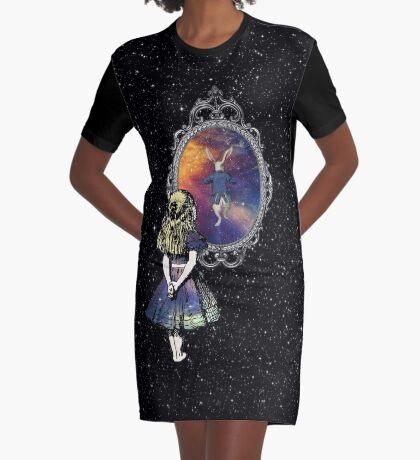 Siga el conejo blanco - Alicia en el país de las maravillas Vestido camiseta