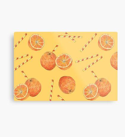 orange juice _light Metal Print