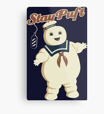 STAY PUFT - MARSHMALLOW MAN GHOSTBUSTERS Metal Print
