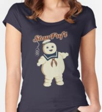STAY PUFT - MARSHMALLOW MAN GHOSTBUSTERS Women's Fitted Scoop T-Shirt