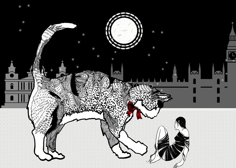 City cat saves city chick by Design4uStudio