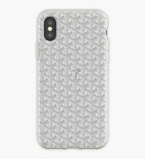 silver goyard iPhone Case
