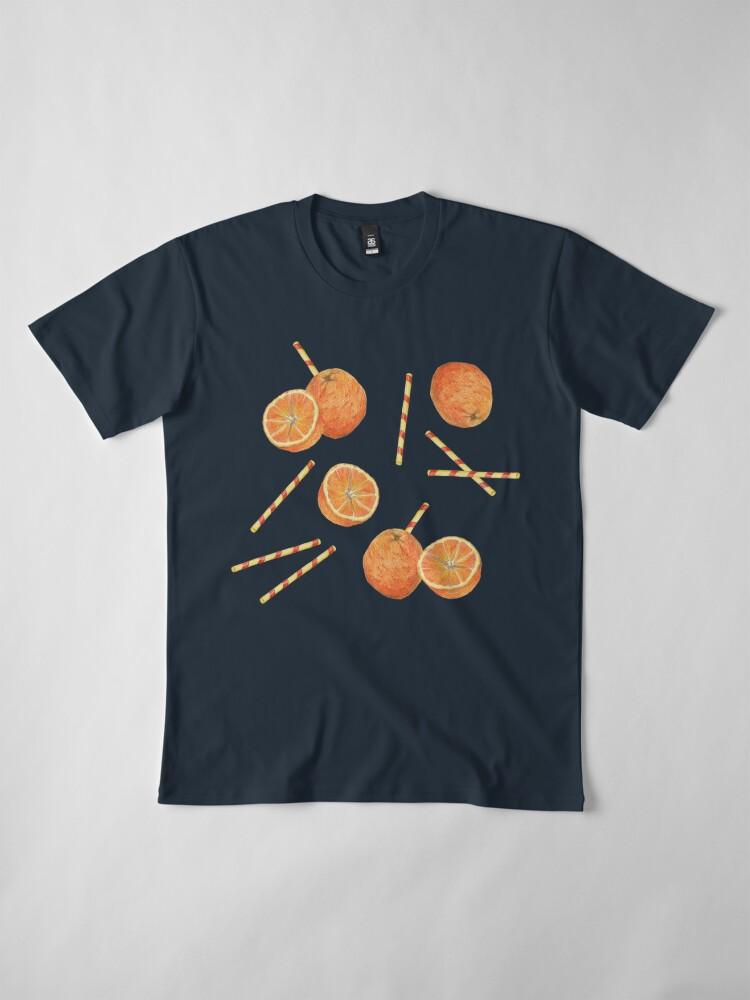 Alternate view of orange juice _blue Premium T-Shirt