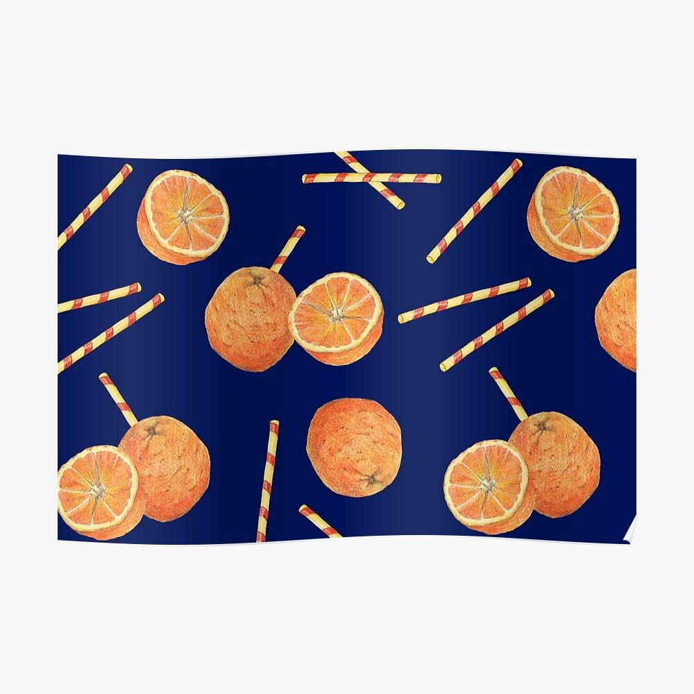 orange juice _blue Poster