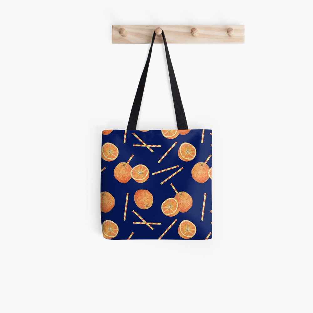 orange juice _blue Tote Bag