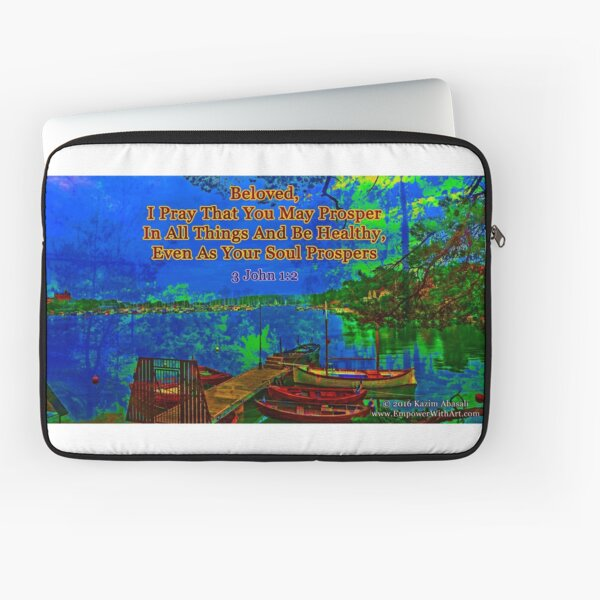 Beloved I pray that you may prosper in all things Laptop Sleeve
