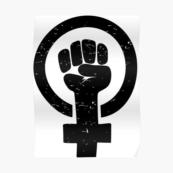 Feminist Raised Fist - Distressed Poster