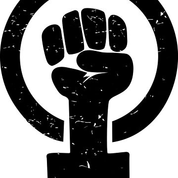 Feminist Raised Fist - Distressed by feministshirts
