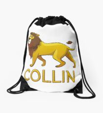 Collin Lion Drawstring Bags Drawstring Bag