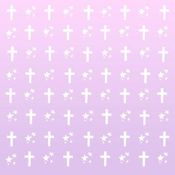 crosses 'n stars (but pink) by wachtelralle