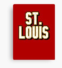 St. Louis Baseball, Sports letters in popular St. Louis colors. Canvas Print