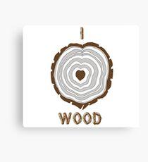 I Heart Wood Canvas Print