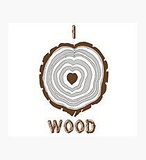 I Heart Wood Photographic Print