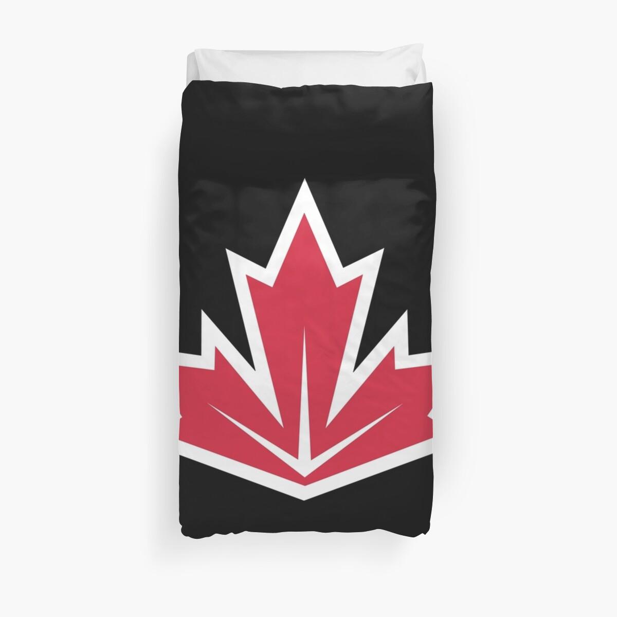 Quot Canada Hockey Team Logo Quot Duvet Covers By Brahmans Shop