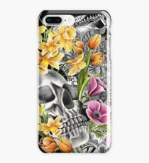 Doodle Skull and flower case iPhone 8 Plus Case