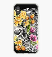 Doodle Skull and flower case iPhone Case