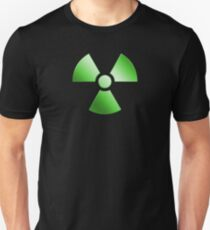 Radioactive Symbol Warning Sign - Radioactivity - Radiation - Green T-Shirt