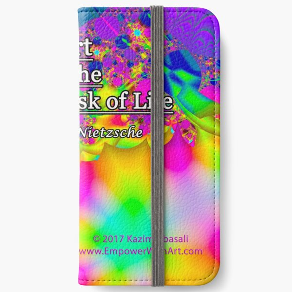 Art is the Proper Task of Life iPhone Wallet