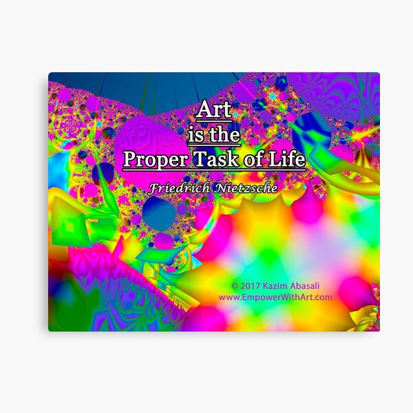 Art is the Proper Task of Life Canvas Print