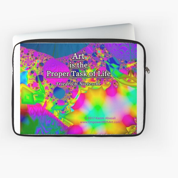 Art is the Proper Task of Life Laptop Sleeve