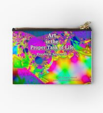 Art is the Proper Task of Life Zipper Pouch