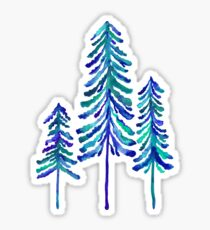 Pine Trees – Navy & Turquoise Palette Sticker