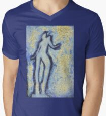 T shirt with painted nude girl