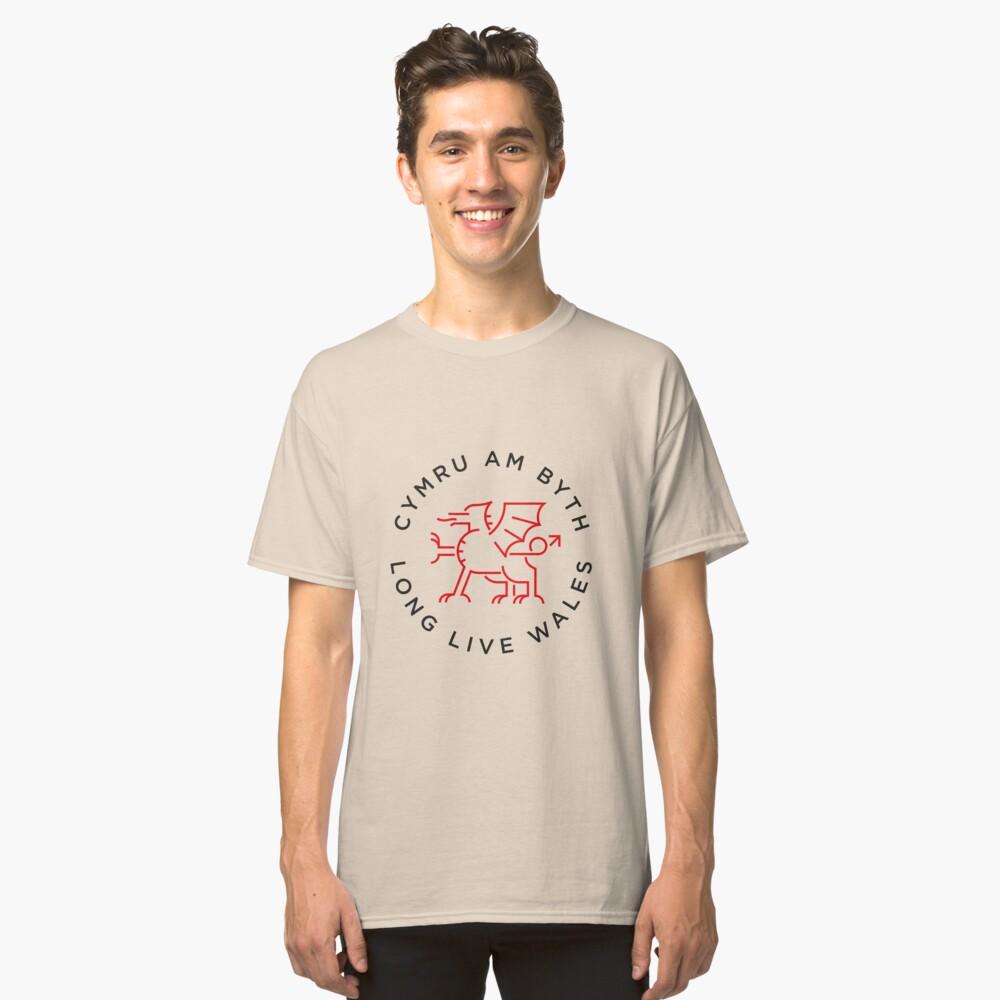 Welsh dragon monoline Camiseta clásica